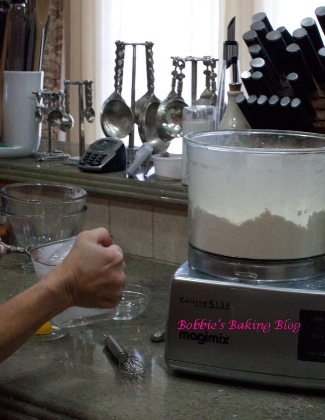 Whisk the egg and water just till combined