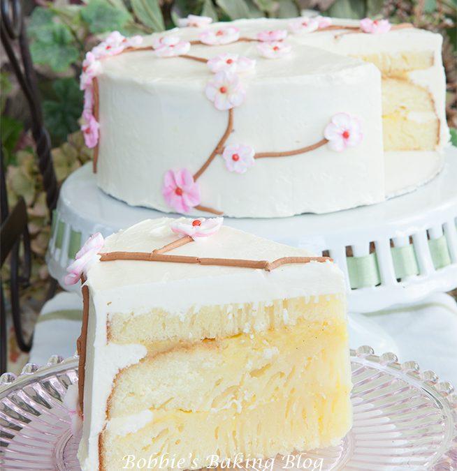 Summertime Cherry Blossom Cake