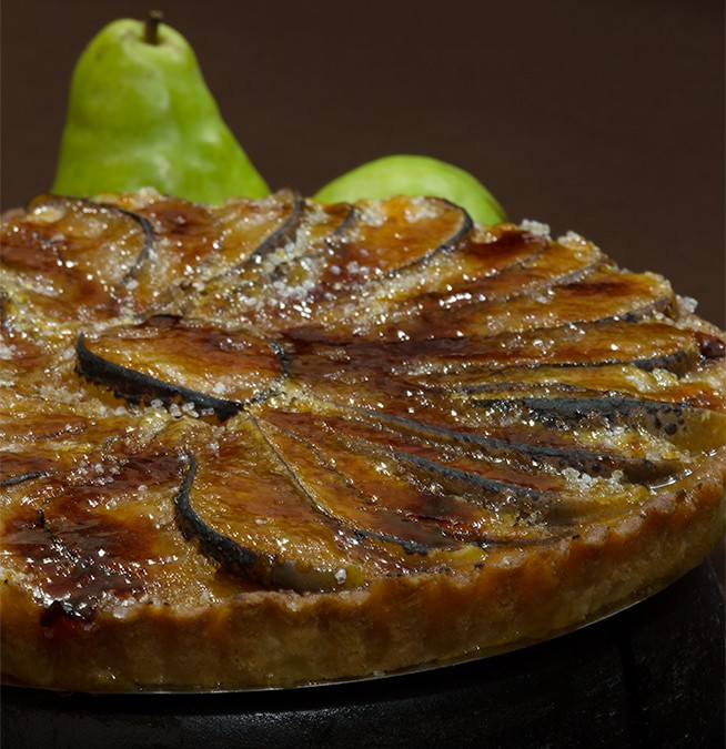 Caramelized Pear Almond Tart