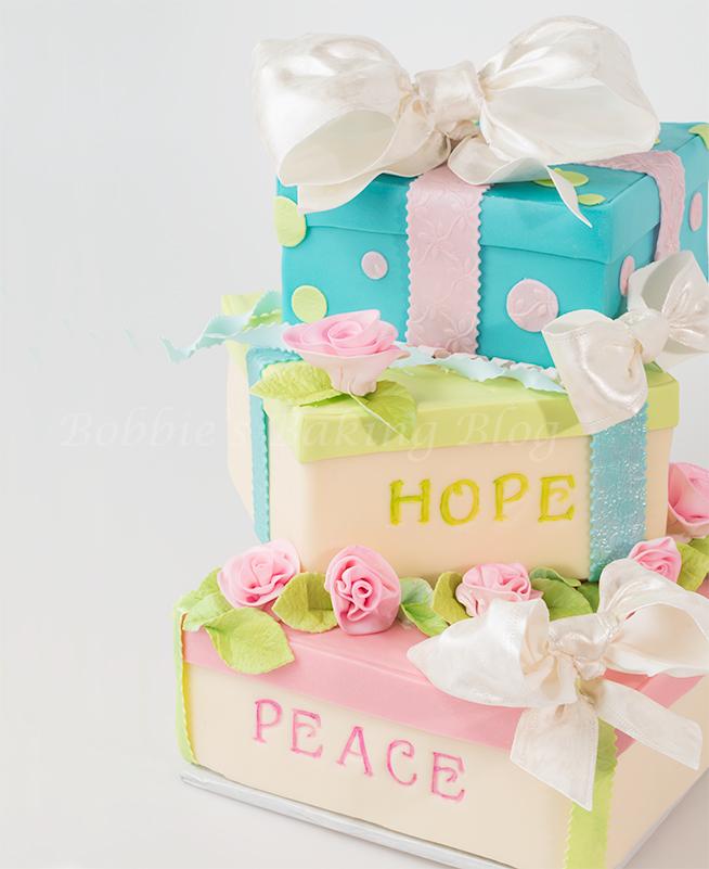 Tiffany box cake tutorial