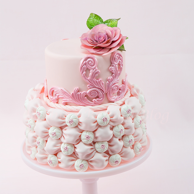 Fabric Fondant Wedding Cake Tutorial