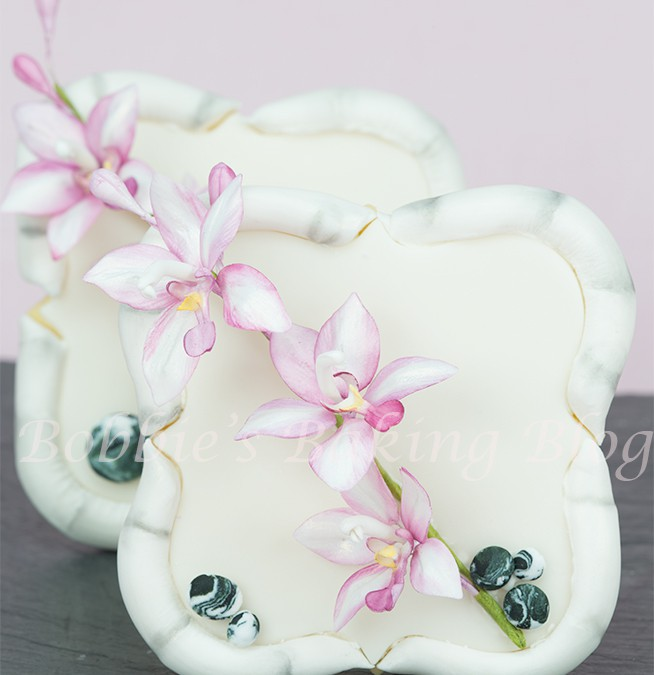 Bamboo and  Asian Orchid Cookie Frames