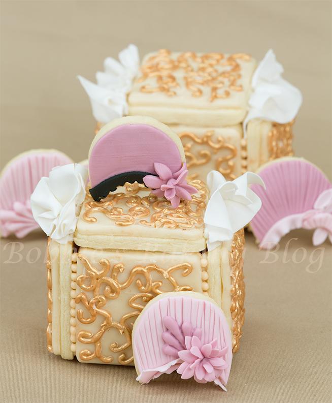 Royal icing filigree piping and sugar cookie box tutorial