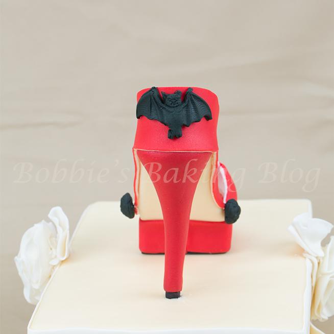 Wicked red fondant high heel shoe 5thavenuecakedesigns fondant platform high heel tutorial maxwellsz