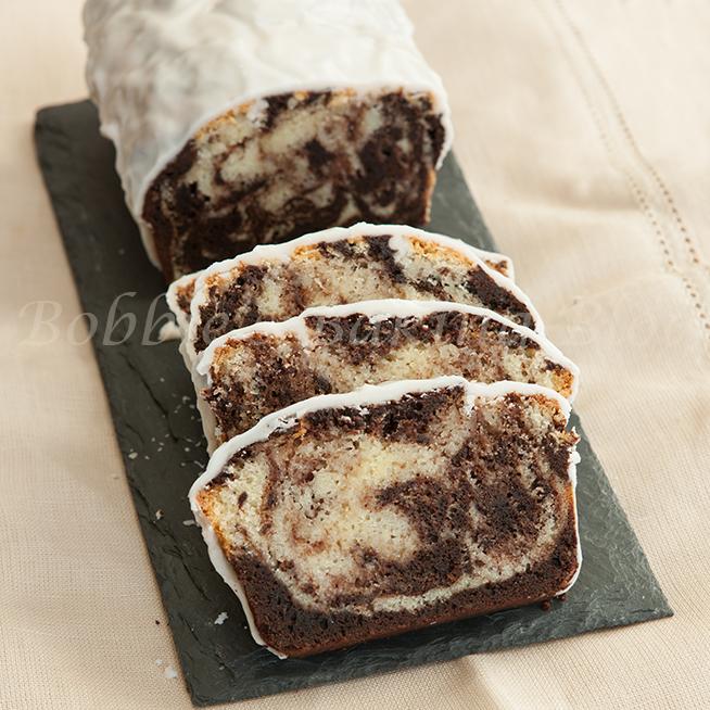 spicy chocolate-vanilla swirl pound cake