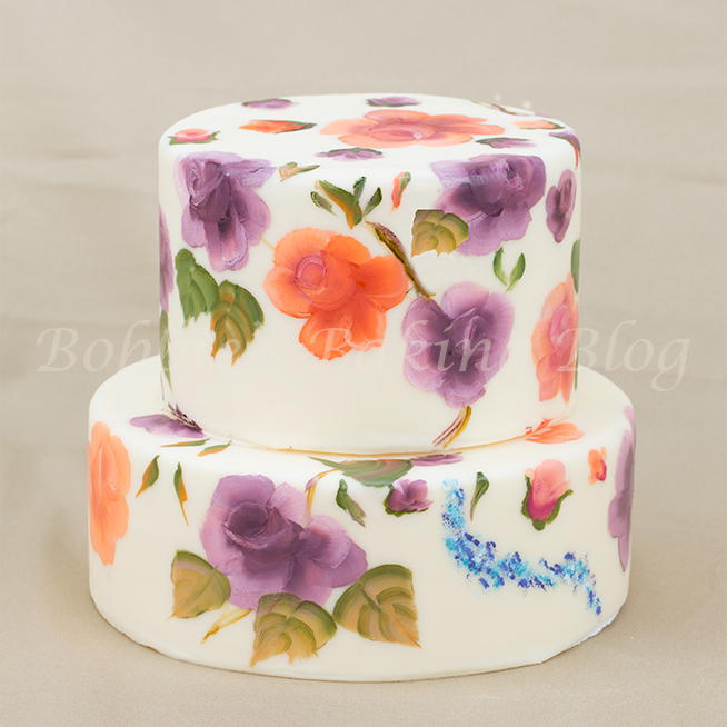 how to paint marjorie harris clark roses on cakes