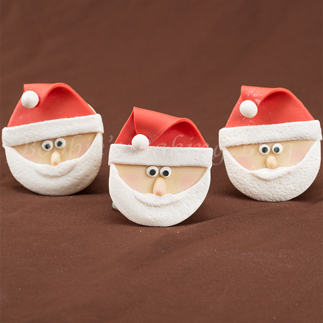 how to make a santa claus cupcake video