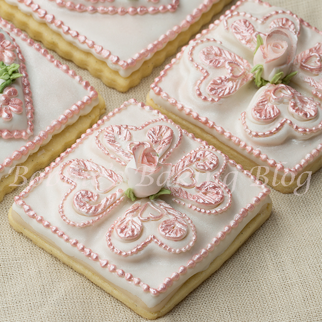 Decorated Tufted Heart Sugar Cookie