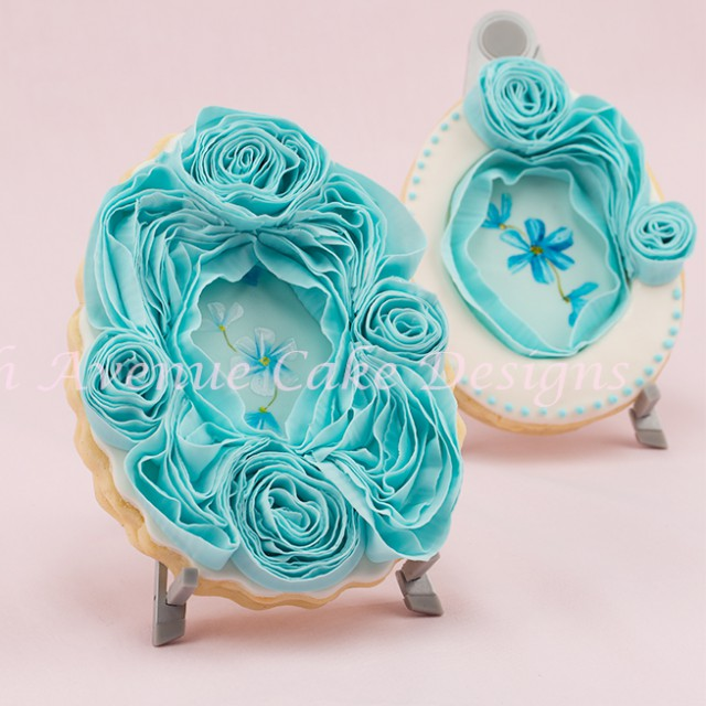 learn the secrets to making a ruffle rose cake decorating