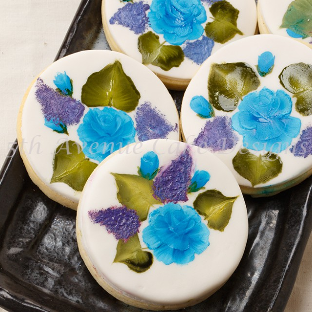 learn how to paint rose on cakes and cookies
