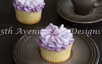 Ombre Fabric Inspired Cupcake Ruffles