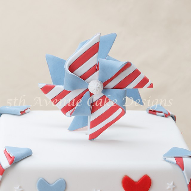 learn how to make fondant fashion inspired pinwheel cake