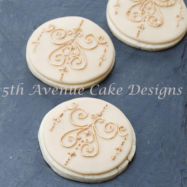 Medallion Filigree Cookies 5thavenuecakedesigns