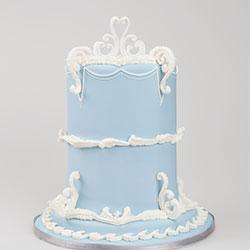 Wedgewood Lambeth style cake