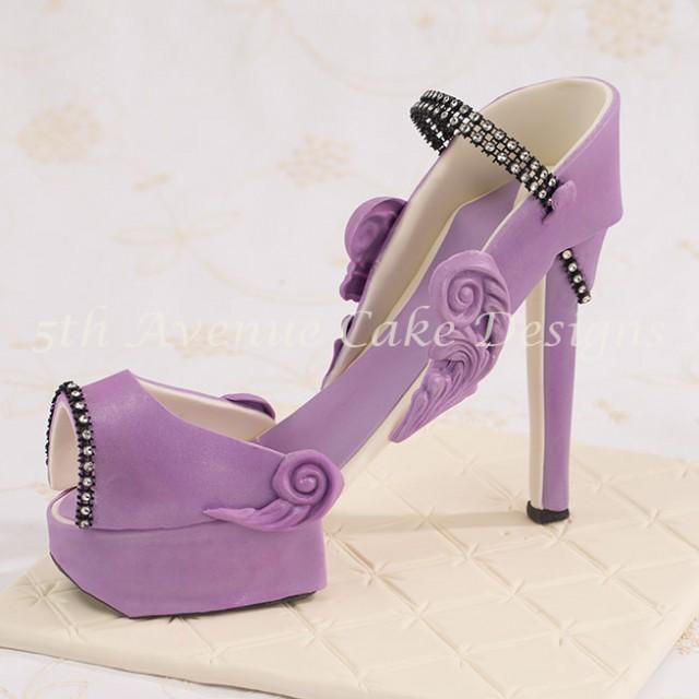 learn how to make an inspired Christian Louboutin fondant platform high heel shoe