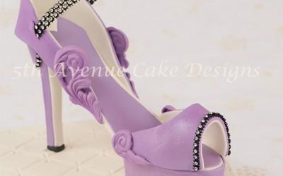 Fashion Inspired Fondant Platform Stiletto Shoe