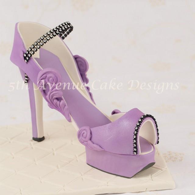 learn how to make an inspired jimmy choo fondant platform high heel shoe