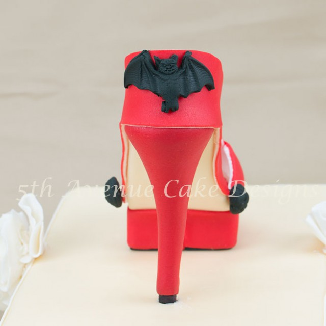 learn how to make an inspired jimmy choo fondant platform high heel shoe