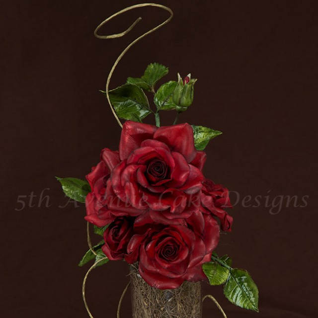 Realistic looking sugar rose video-tutorial