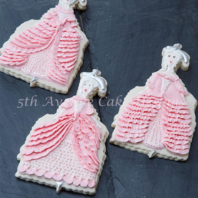 Marie Antoinette Haute Couture Cookies