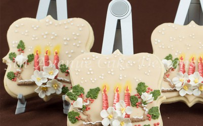 Festive Scenery Piped on a Sugar Cookie