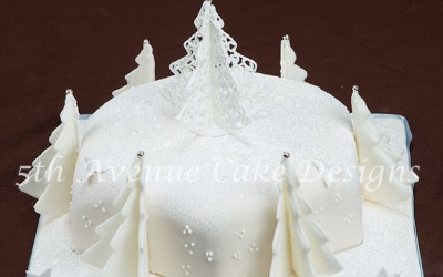 Winter Wonderland Christmas Cake