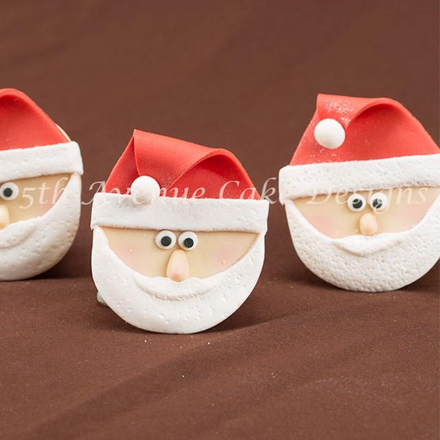 Santa Claus Cupcake by 5th Avenue Cake Designs
