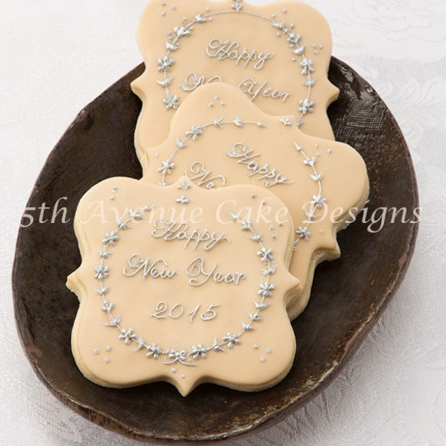 2015 New Year Cookie pressure piped by Bobbie Noto