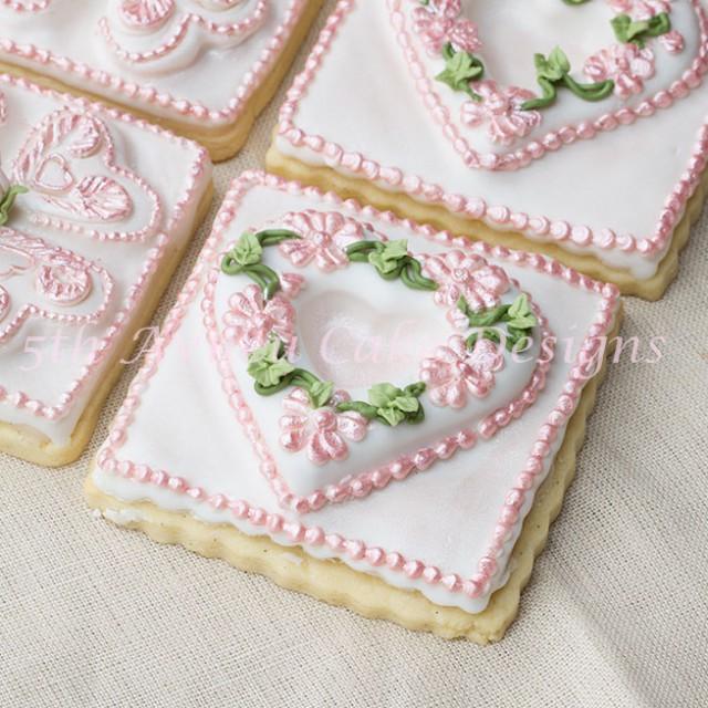 Wedding cookie favors by Bobbie Noto