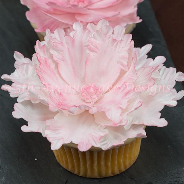 Peony wedding Cupcake by Bobbie Noto