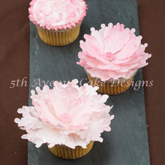 Wedding peony cupcakes by Bobbie Noto