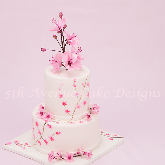 Springtime Cherry Blossom Cake by Bobbie Noto