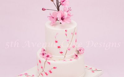 Springtime Cherry Blossom Cake