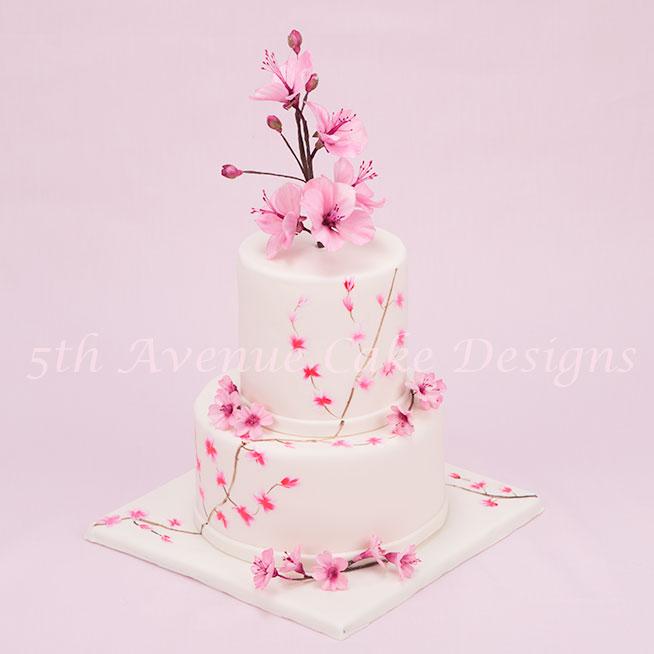 Cherry Blossom Wedding Cake by Bobbie Noto