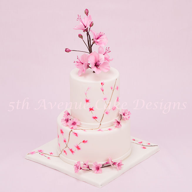 Springtime wedding cake by  Bobbie Noto
