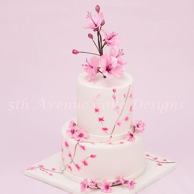 Cherry blossom cake by sugar artist Bobbie Noto
