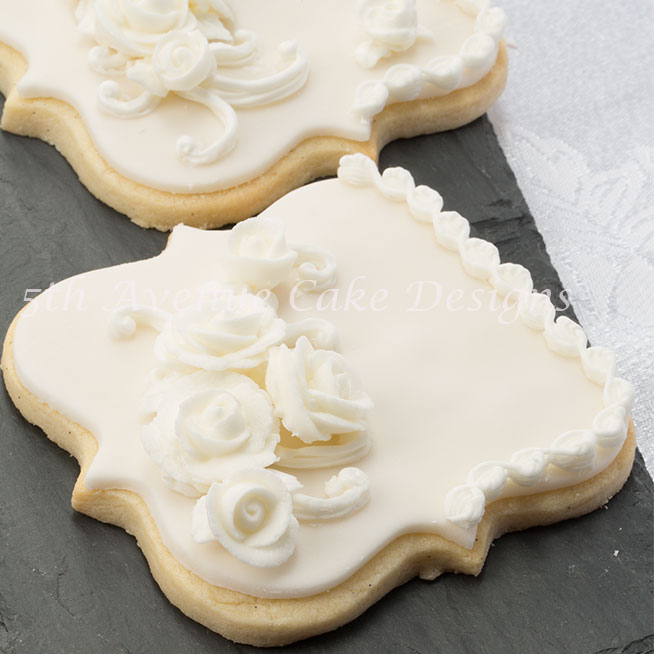 Bridal cookie by Bobbie Noto