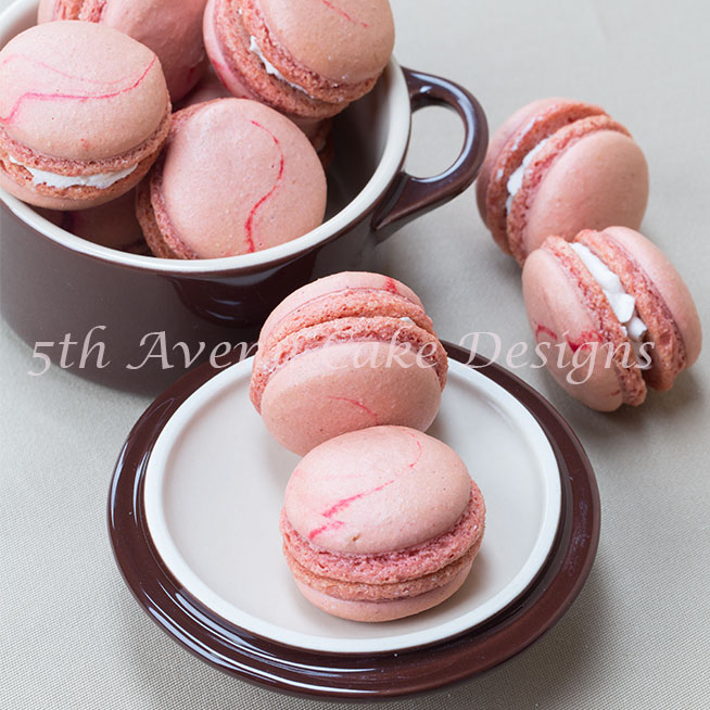 Strawberry Swirl French Macarons BY Bobbie Noto