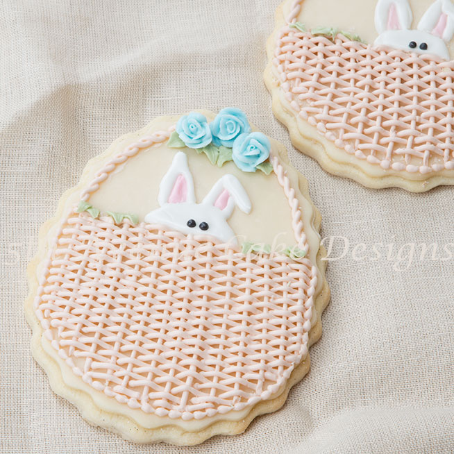Peek a Boo Bunny cookie by Bobbie Noto