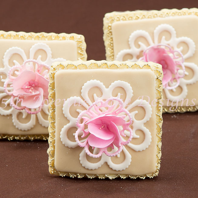 Wedding lace cookies by Bobbie Noto