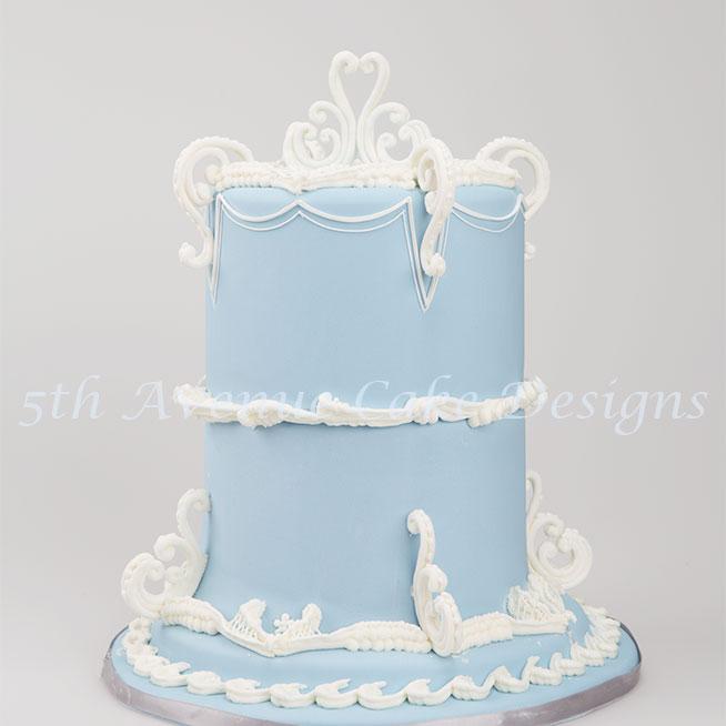 Wedding Wedgwood cake by Bobbie Noto