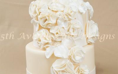 Fashion Fondant Inspired Wedding Cake