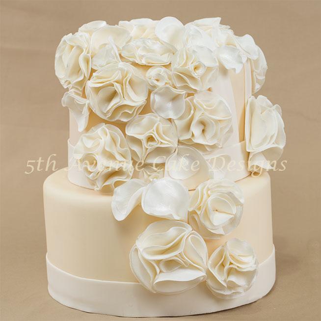 Fashion fondant wedding cake by Bobbie Noto