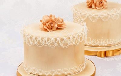 Oriental String Work Birthday Cake