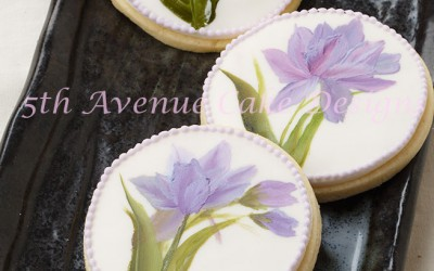 Hand Painted Tulip Cookies