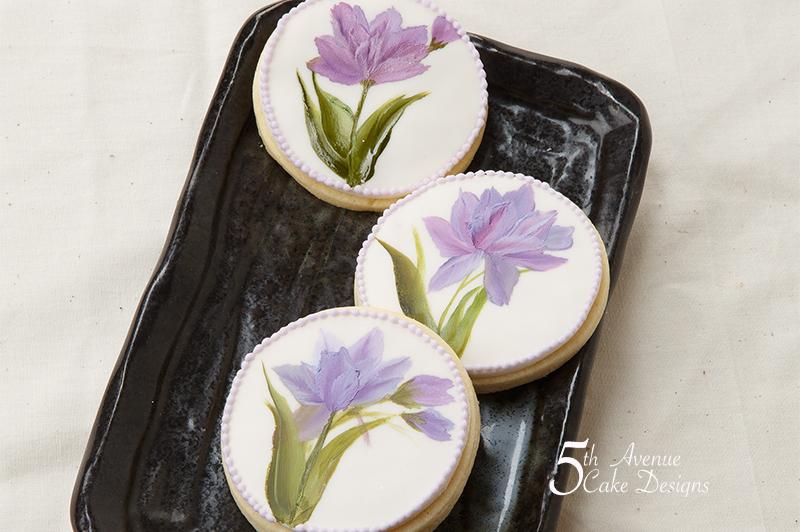 OneStroke Hand Painted Tulip Cookies 🌷🎨🖌️