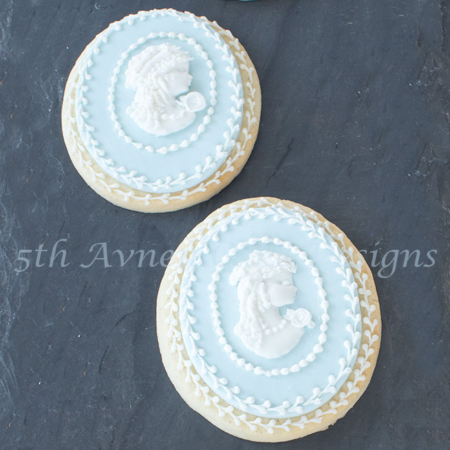 Royal Icing Dimensional Cameo Cookies