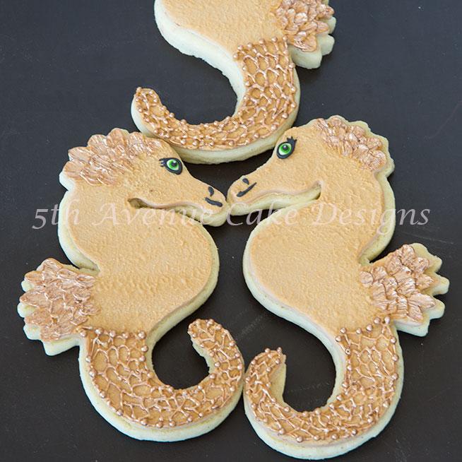 Seahorse sugar cookies by Bobbie Noto
