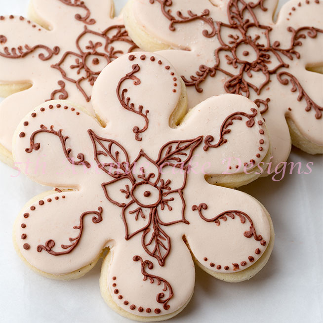 Royal Icing Henna cookies
