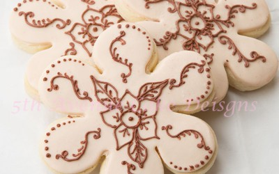 How to Create Henna Flower Cookies with Royal Icing